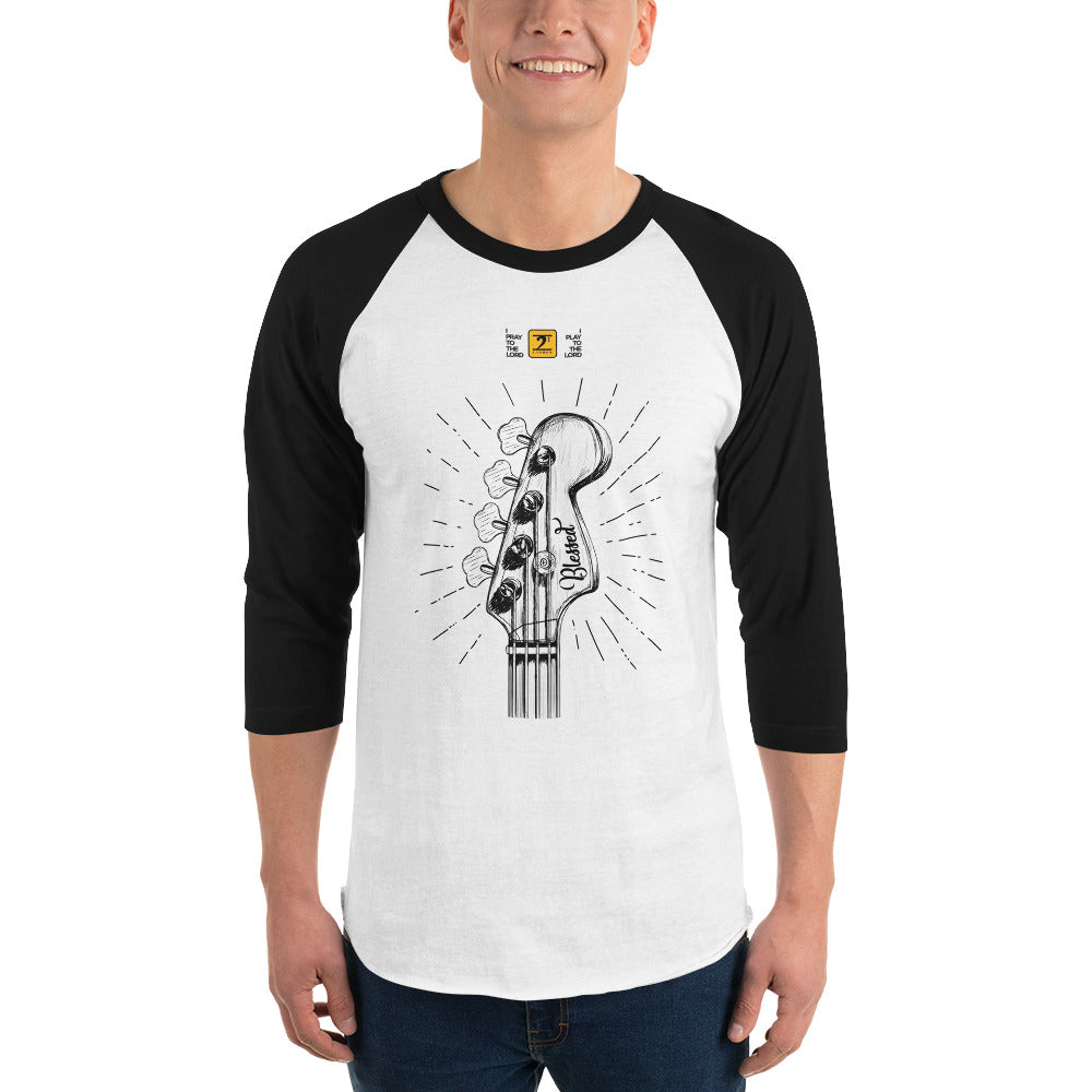 I PLAY TO THE LORD 3/4 sleeve raglan shirt - Lathon Bass Wear