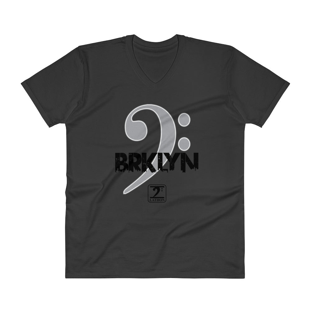 BROOKLYN CLEF V-Neck T-Shirt - Lathon Bass Wear