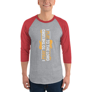 I PLAY TO THE LORD - GOLD 3/4 sleeve raglan shirt