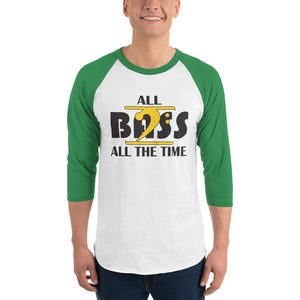 ALL BASS ALL THE TIME 3/4 sleeve raglan shirt - Lathon Bass Wear
