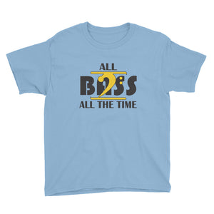 ALL BASS ALL THE TIME Youth Short Sleeve T-Shirt - Lathon Bass Wear
