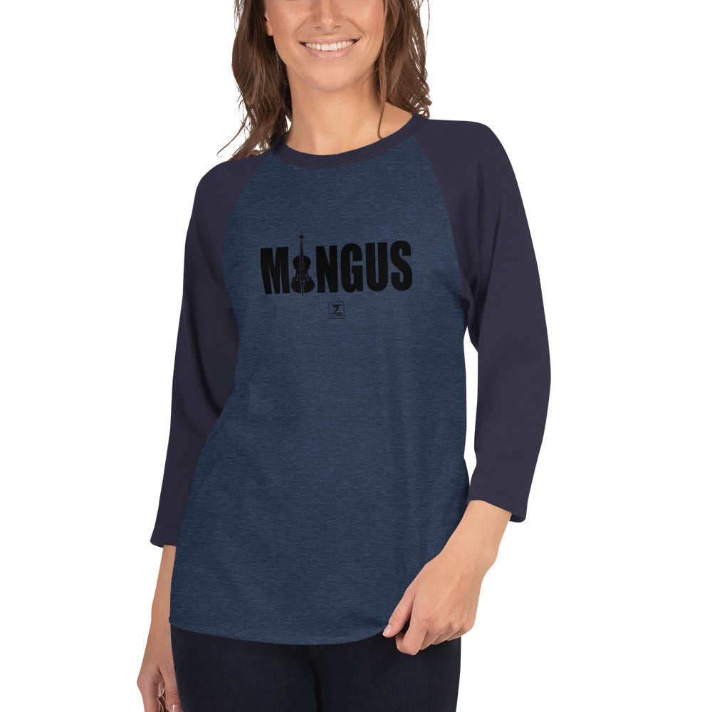 MINGUS-BLACK 3/4 sleeve raglan shirt