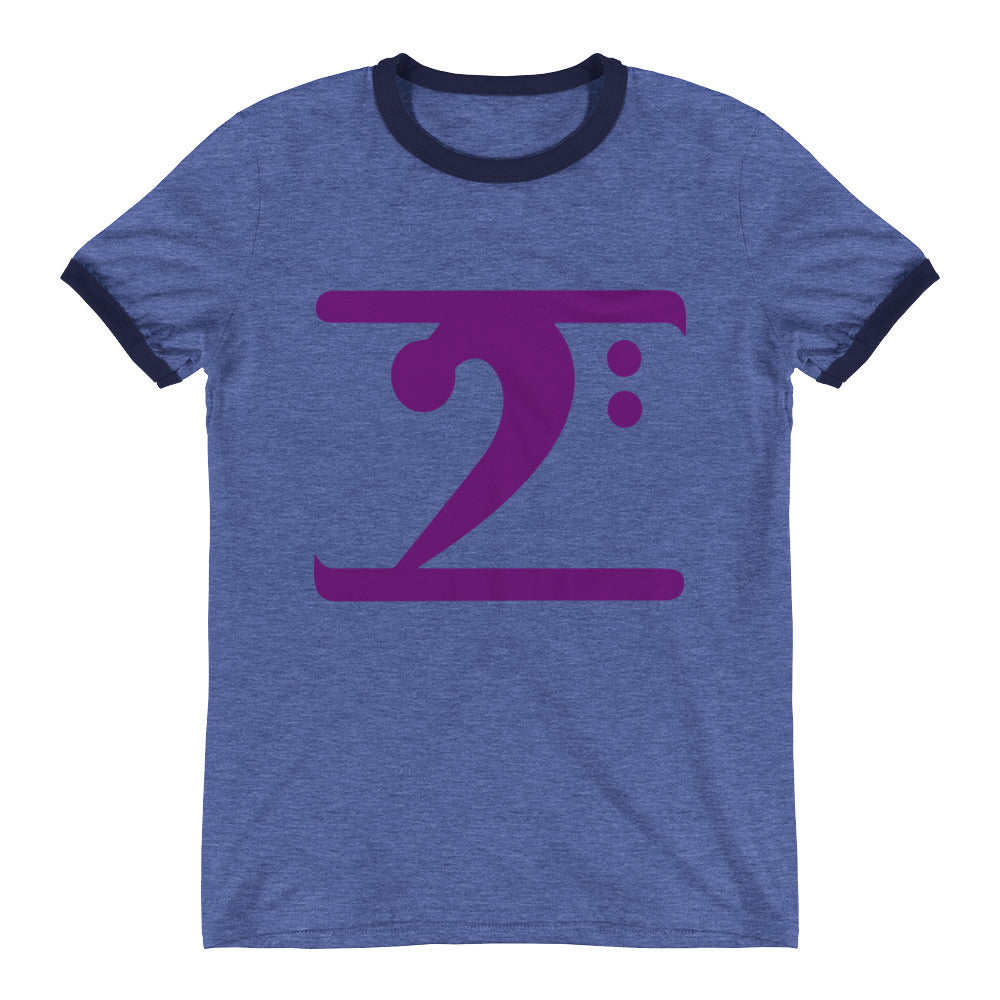 PURPLE LOGO Ringer T-Shirt - Lathon Bass Wear