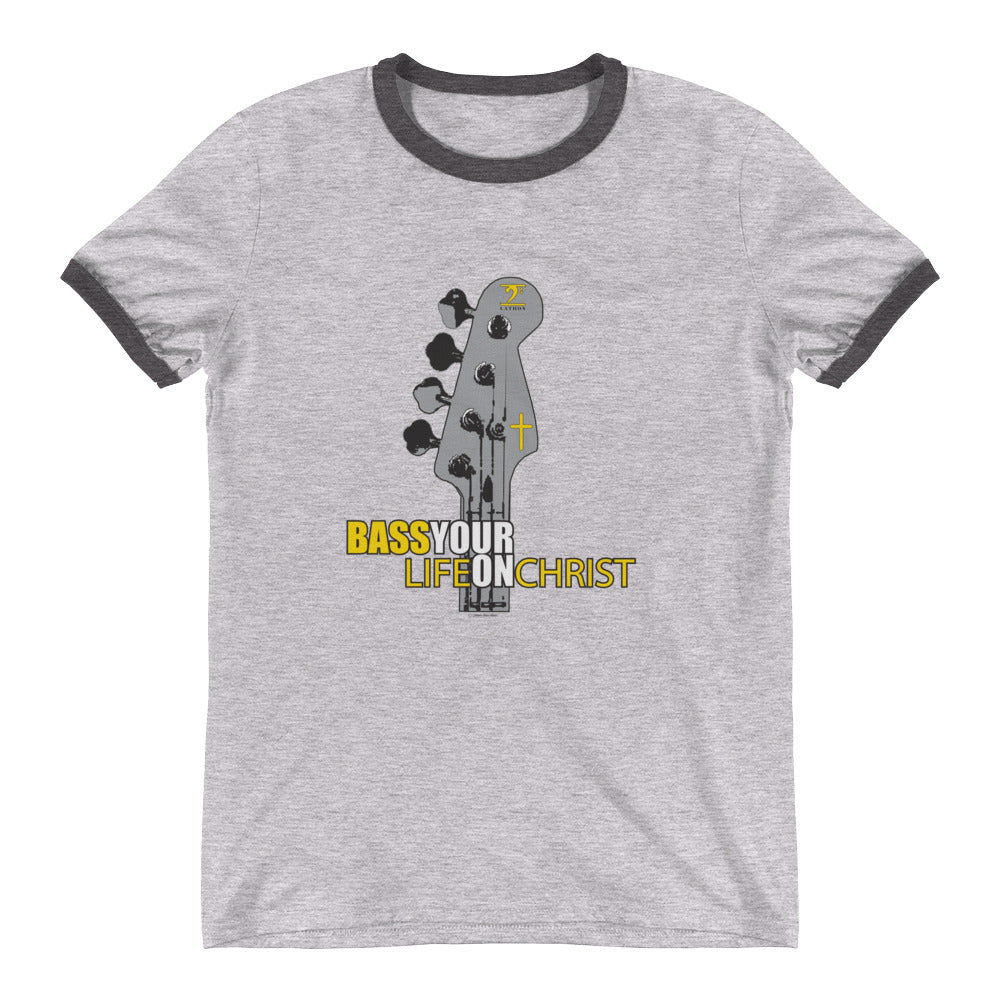 BASS YOUR LIFE ON CHRIST Ringer T-Shirt - Lathon Bass Wear