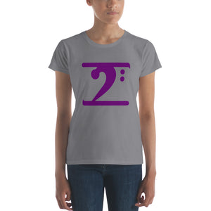 PURPLE LOGO Women's short sleeve t-shirt