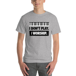 I WORSHIP = PIANO Short Sleeve T-Shirt