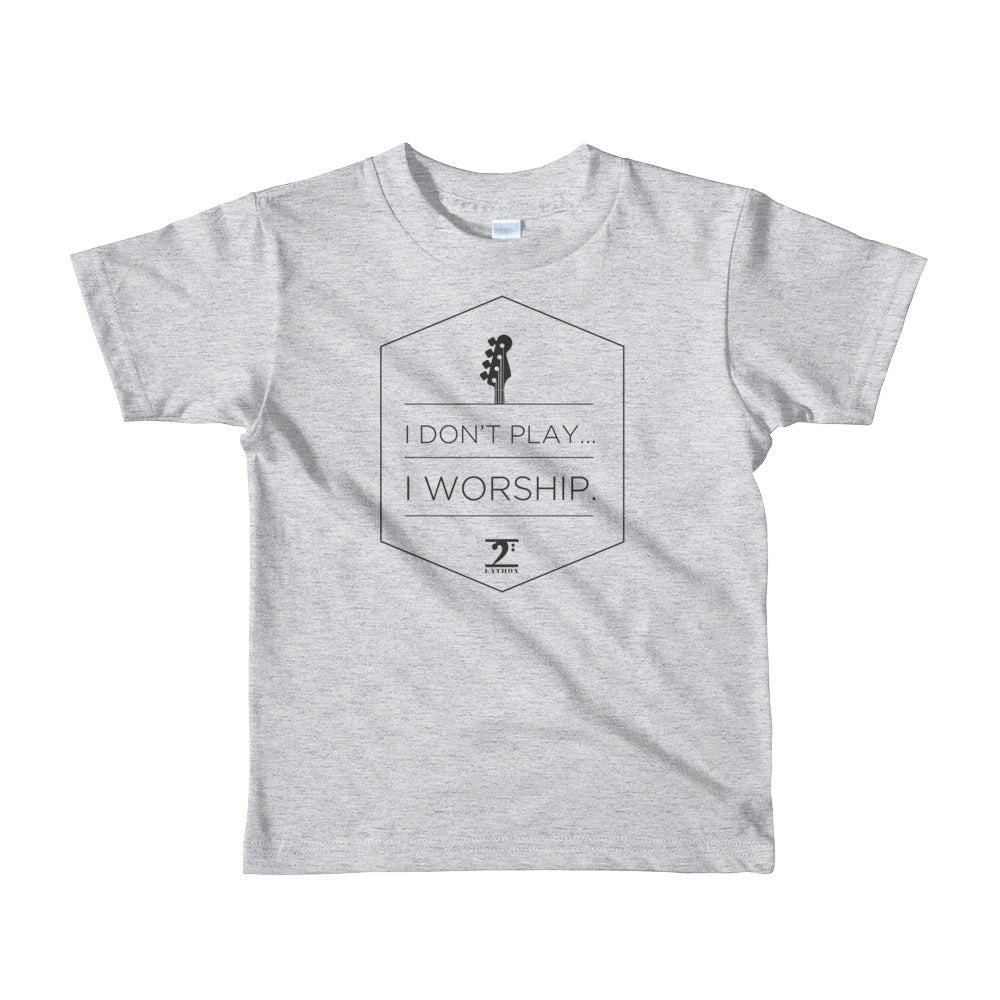 I DON'T PLAY I WORSHIP 2 Short sleeve kids t-shirt - Lathon Bass Wear