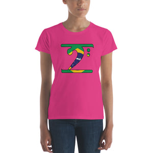 BRAZIL LBW Women's short sleeve t-shirt - Lathon Bass Wear