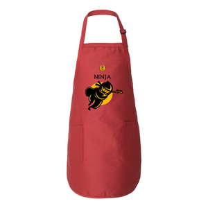 NINJA LATHON STYLE Full-Length Apron with Pockets - Lathon Bass Wear