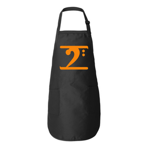 ORANGE LOGO Full-Length Apron with Pockets - Lathon Bass Wear