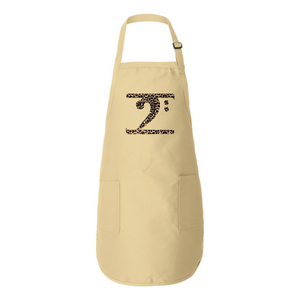 LEOPARD LOGO Full-Length Apron with Pockets - Lathon Bass Wear