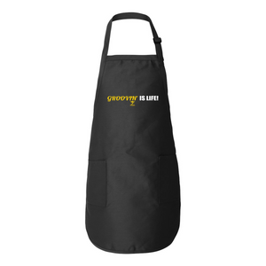 GROOVIN' IS LIFE Full-Length Apron with Pockets - Lathon Bass Wear