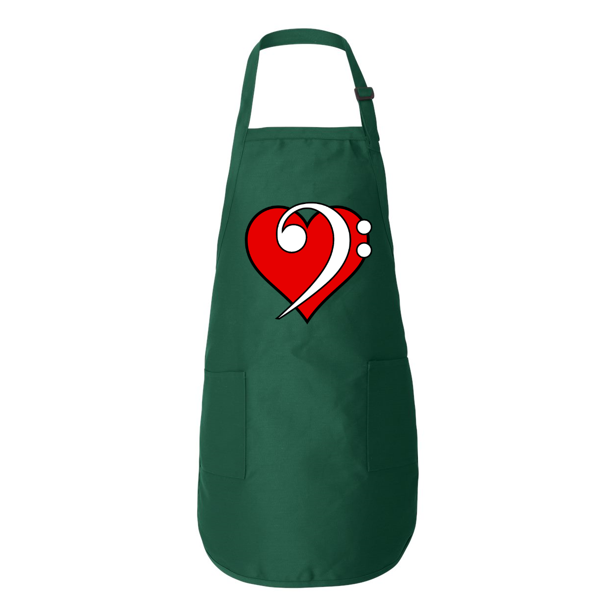 BASS LOVE Full-Length Apron with Pockets - Lathon Bass Wear