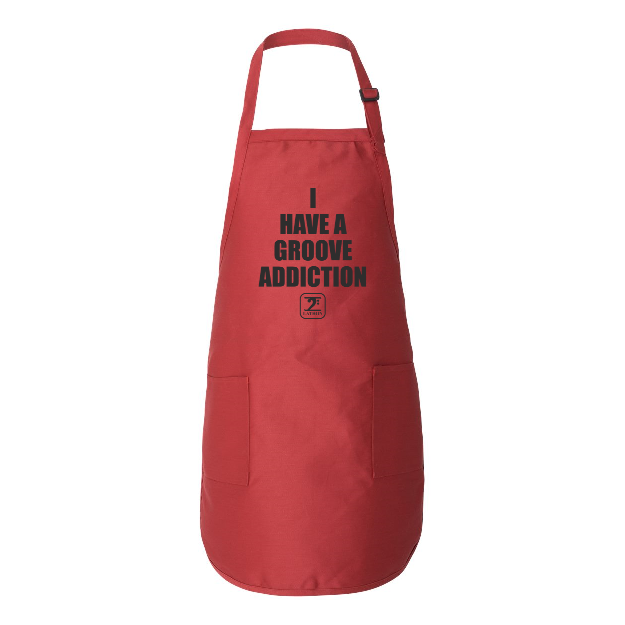 I HAVE A GROOVE ADDICTION Full-Length Apron with Pockets - Lathon Bass Wear