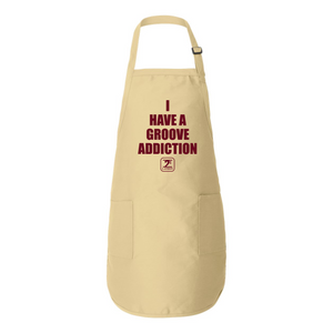 I HAVE A GROOVE ADDICTION - MAROON Full-Length Apron with Pockets - Lathon Bass Wear