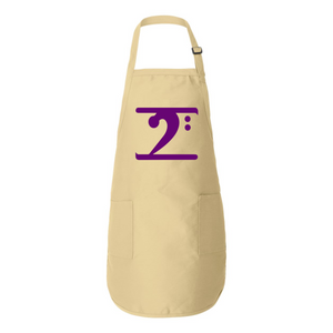 PURPLE LOGO Full-Length Apron with Pockets - Lathon Bass Wear