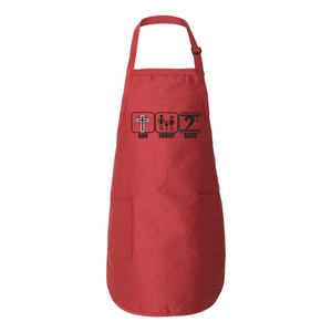 GOD FAMILY BASS Full-Length Apron with Pockets - Lathon Bass Wear