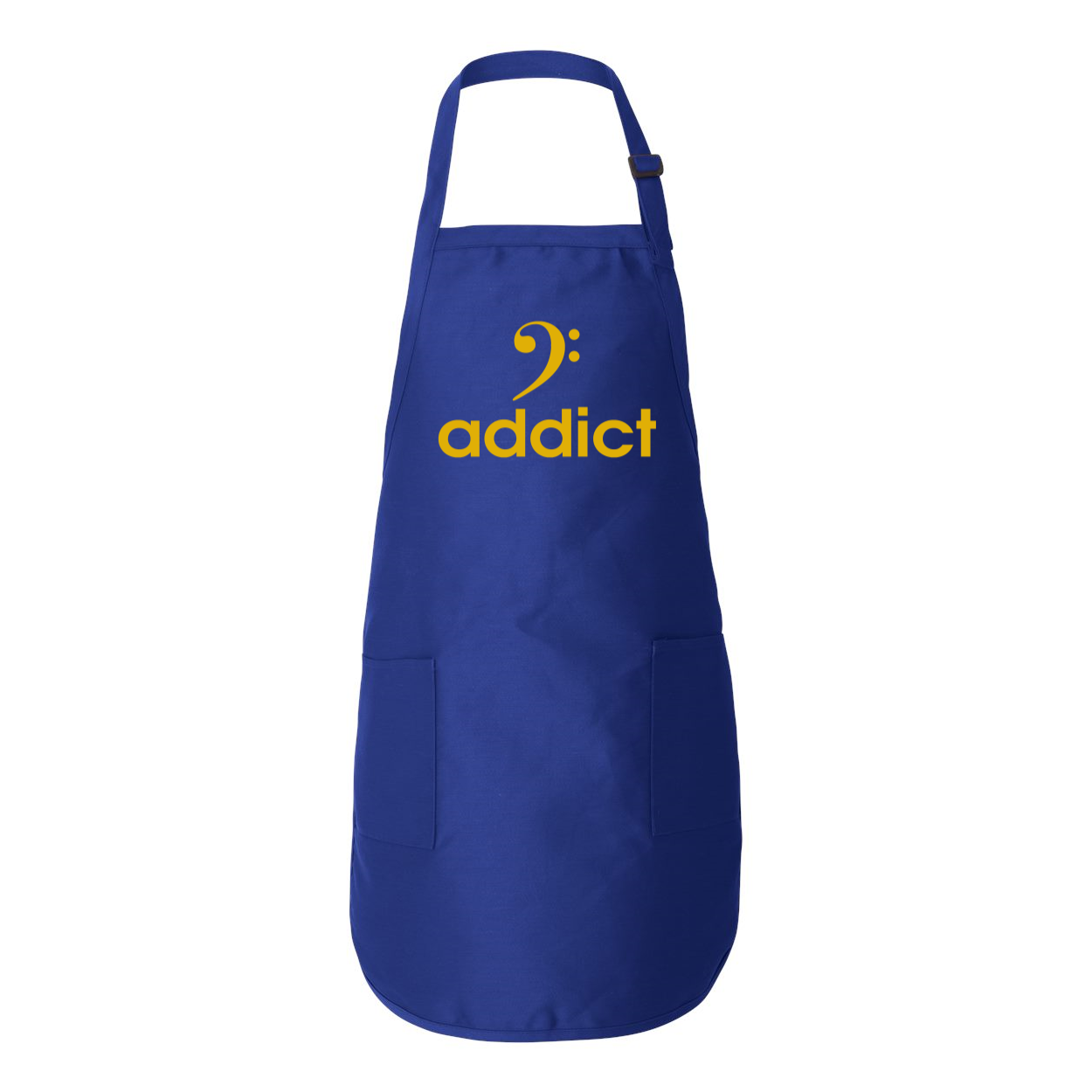 BASS ADDICT - GOLD Full-Length Apron with Pockets - Lathon Bass Wear