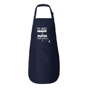 MY DAD'S GROOVE IS BETTER THEN YOURS Full-Length Apron with Pockets - Lathon Bass Wear