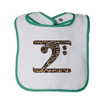LEOPARD LOGO Infant Contrast Trim Terry Bib
