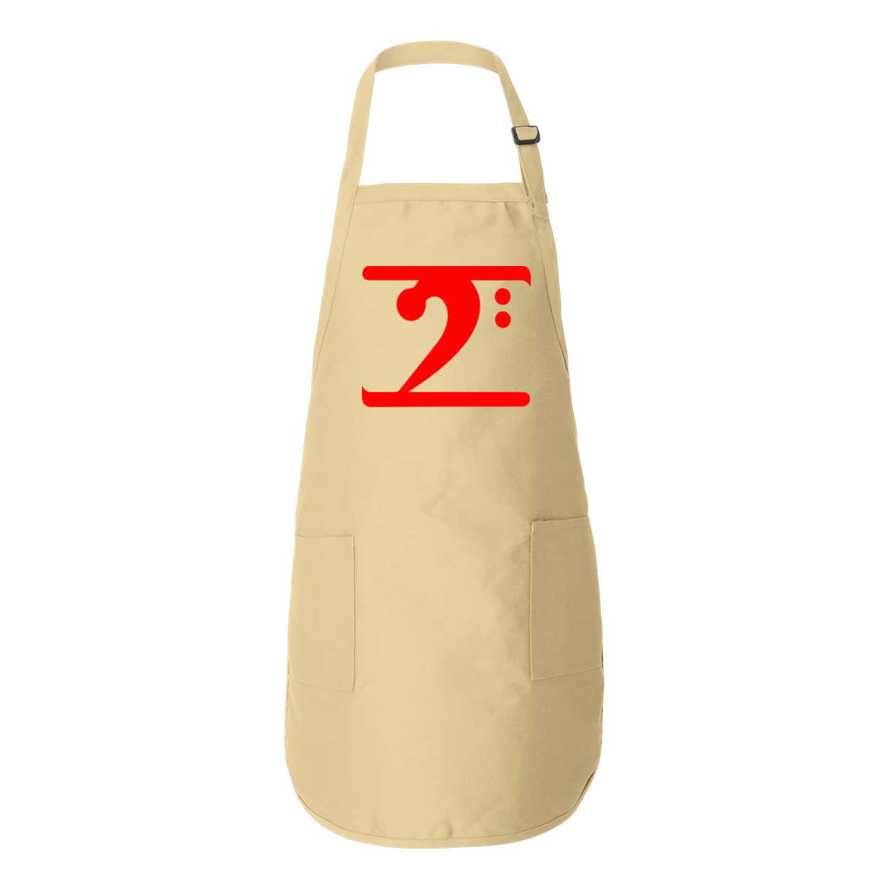 RED LOGO Full-Length Apron with Pockets - Lathon Bass Wear