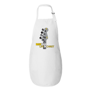 BASS YOUR LIFE ON CHRIST Full-Length Apron with Pockets - Lathon Bass Wear