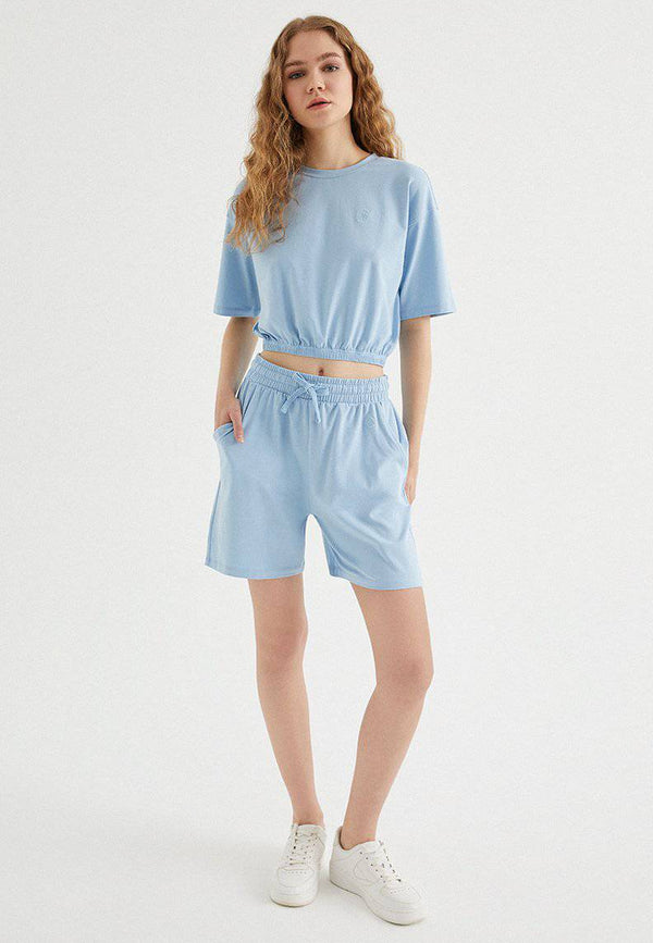 TOUCH CROP SET in Powder Blue - Set - Westmark London EU(TR) Store Organik Pamuklu Sürdürülebilir Moda