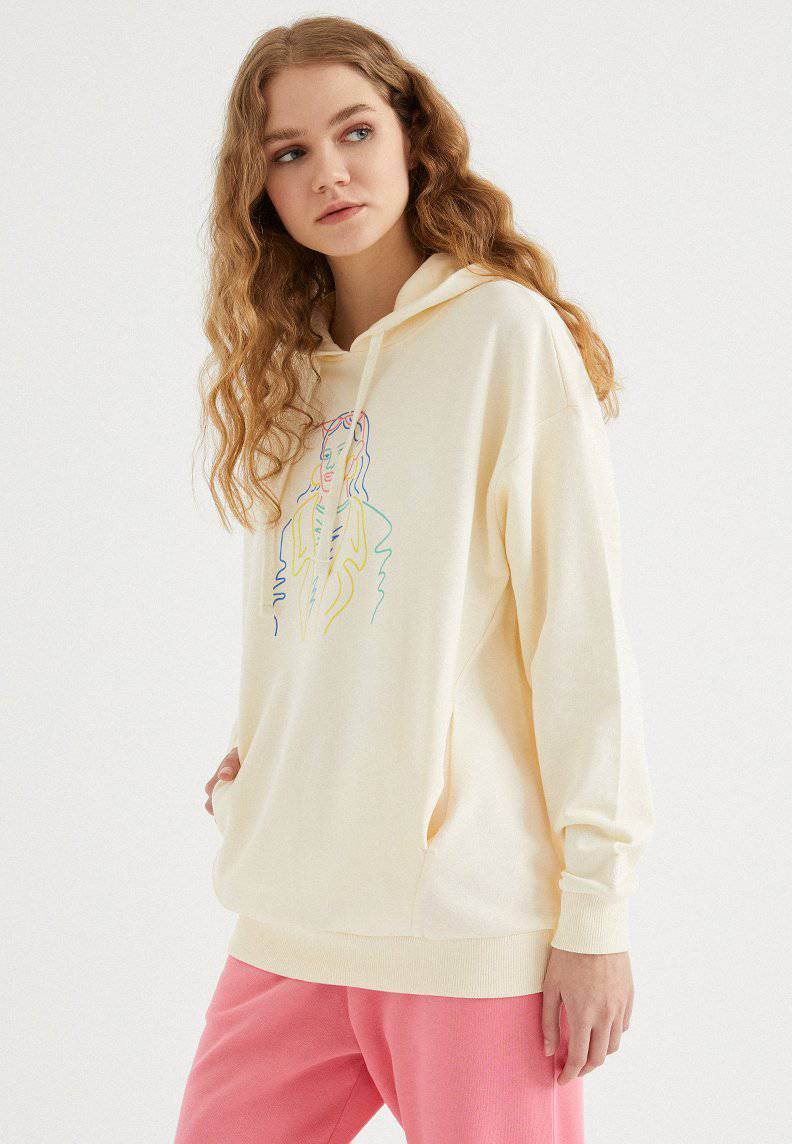 COLOURFUL WOMEN HOODIE w/POCKET
