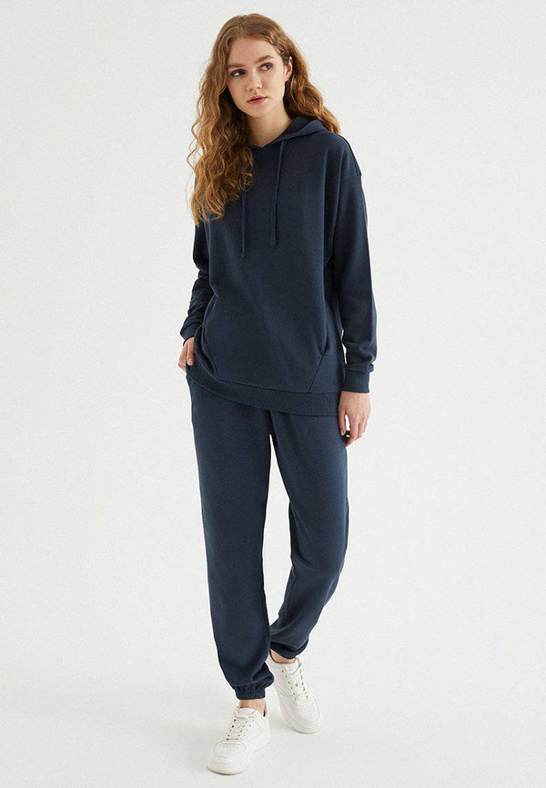 ENJOY OVERSIZE HOODIE w/POCKET in Blue Nights - Sweatshirt - Westmark London EU(TR) Store Organik Pamuklu Sürdürülebilir Moda