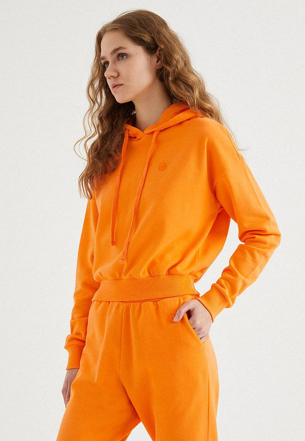 ENJOY CROPPED HOODIE in Bird of Paradise - Sweatshirt - Westmark London EU(TR) Store Organik Pamuklu Sürdürülebilir Moda