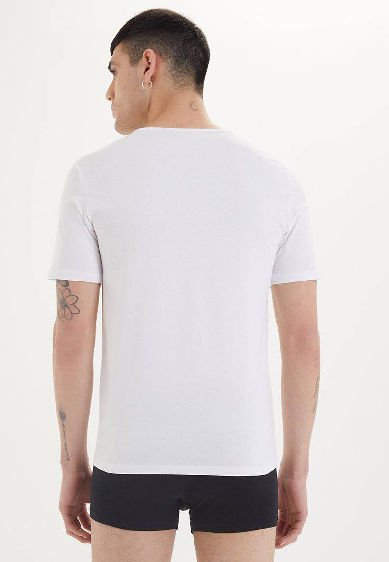 SHIRTS O-NECK in White