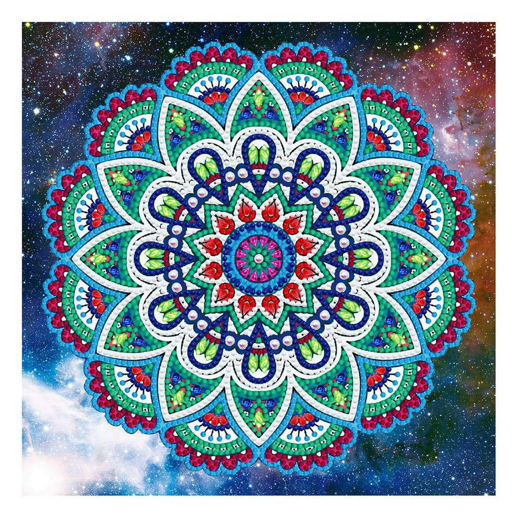 Mandala Groen Rood | Glow in the Dark
