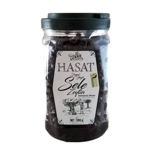 Hasat black olives 1200g