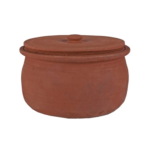 "Village Style Clay Pot w/ lid (4 Servings - D8"")"