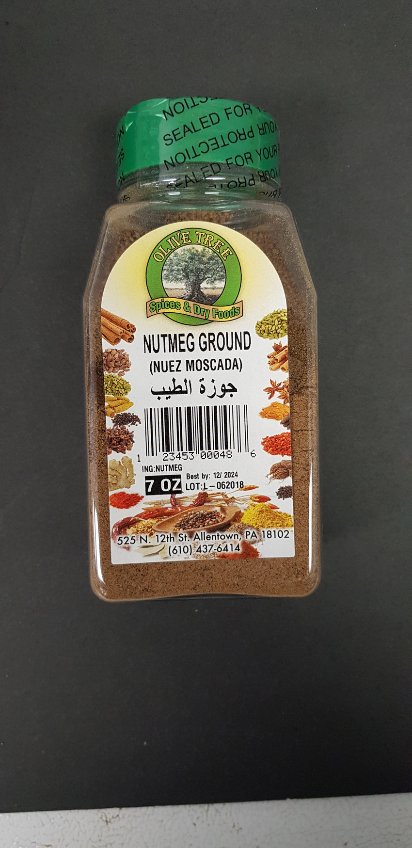 Olive tree nutmeg ground