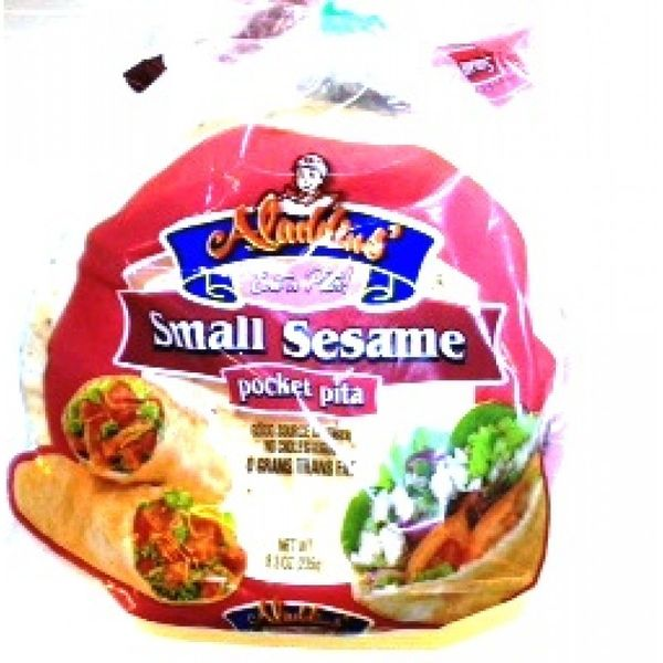 Aladdins pocket pita small sesame