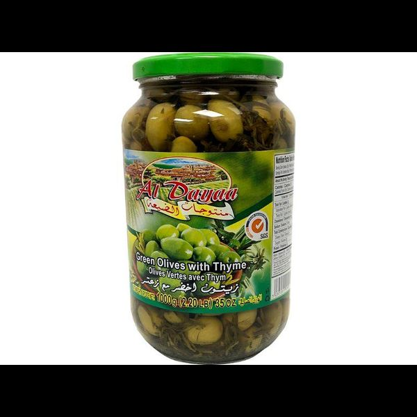 Aldayaa green olives with lemon 1000g