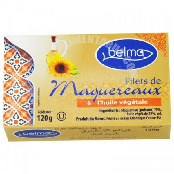 Belma mackesel fillets in vegi oil 120g