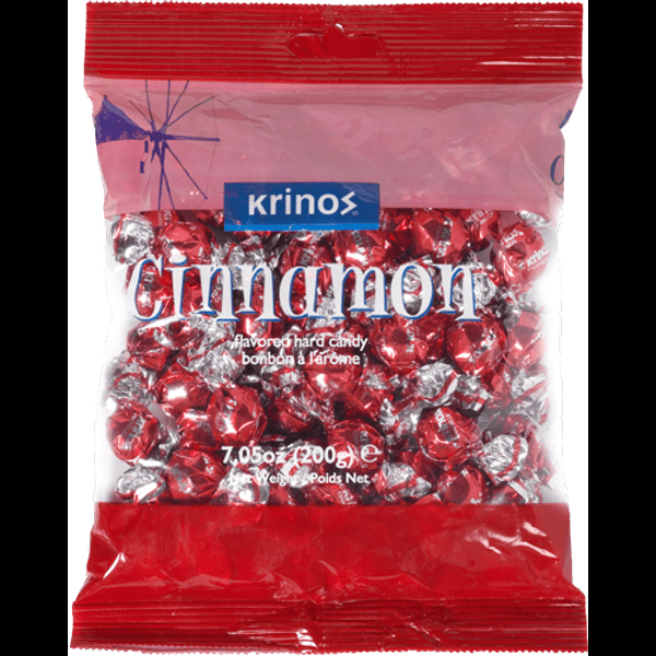 Krinos cinnamon flavored hard candy 300g