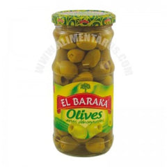 El baraka green olives pitted 315g