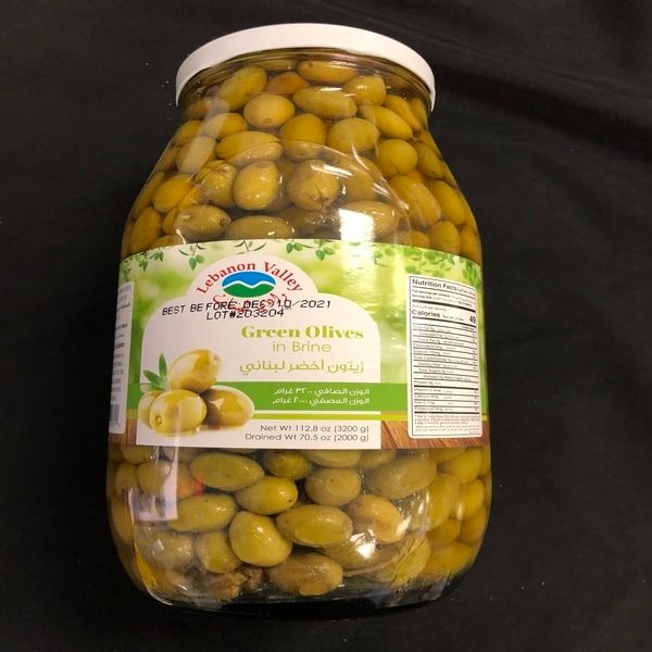 Lebanon valley green olives 3200 g