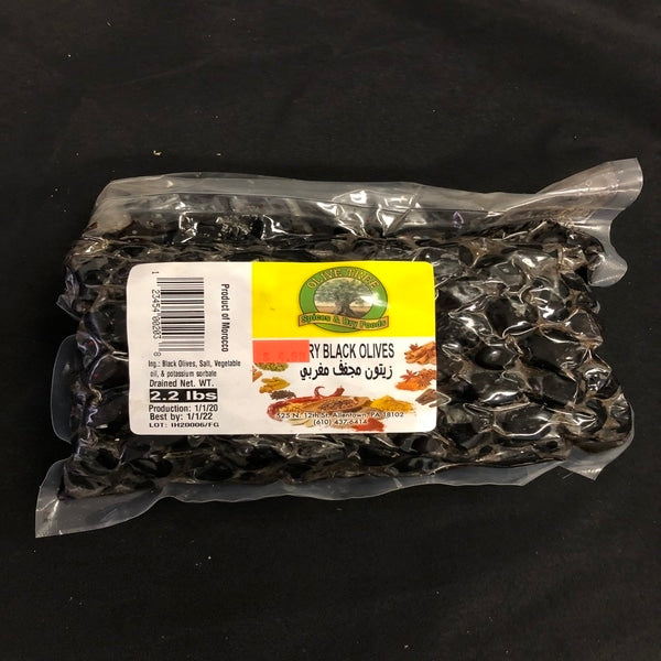 Olive tree dry black olives 2.2lbs