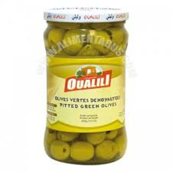 Oualili green olives pitted 67oz