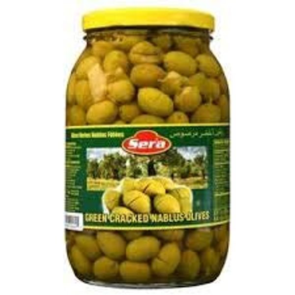 Sera green cracked nablus olives 700g
