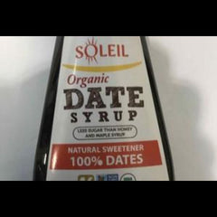 Soleil organic date syrup