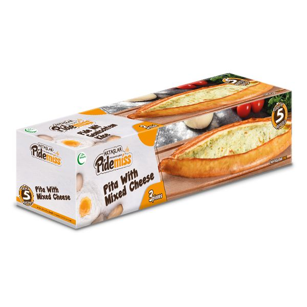 Aktaslar halal pita with mixed cheese 375g