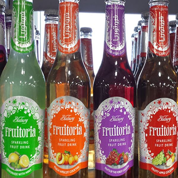 Frutoria sparkling fruit drink each