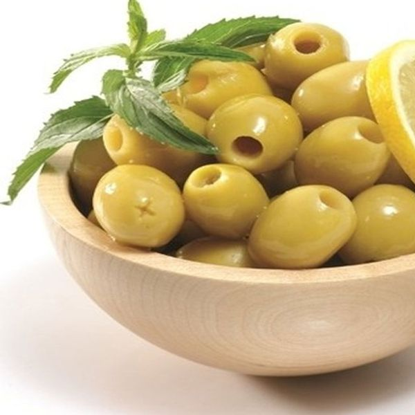 Pitted green olive lb