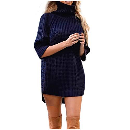 COOKI Women's Casual Sweaters Irregular Long Sleeve Solid Sweater Oversized Loose Knitted Pullover Sweaters Tops Blouse
