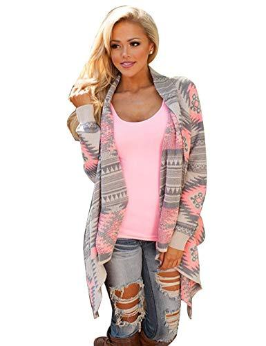 Youandmes Autumn Women Striped Loose Cardigan, Casual Long Sleeve Outwear Coat Sweater